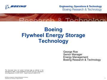 Boeing Flywheel Energy Storage Technology