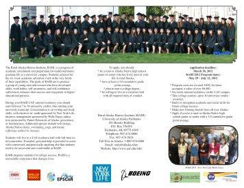 be a rural or - University of Alaska Fairbanks