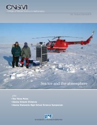 Sea ice and the atmosphere - University of Alaska Fairbanks