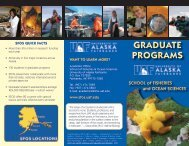 GRADUATE PROGRAMS - University of Alaska Fairbanks