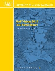 UAF Vision 2017 Task Force Report - University of Alaska Fairbanks