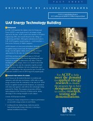 UAF Energy Technology Building - University of Alaska Fairbanks