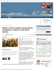 Native cancer support group gives residents a chance to tell their ...