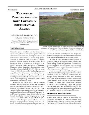 RPR 40 Turfgrass - University of Alaska Fairbanks