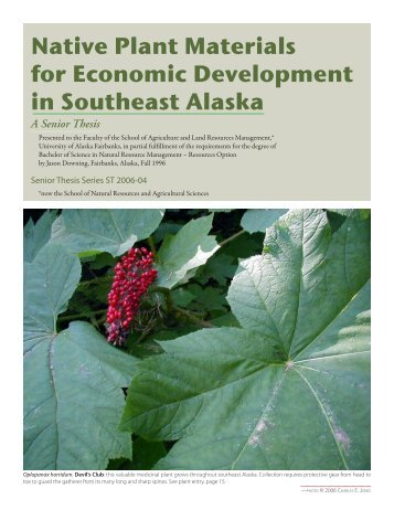Native Plant Materials for Economic Development in Southeast Alaska