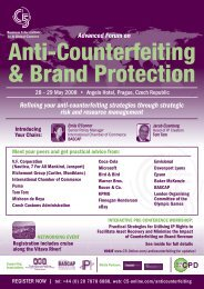 Advanced Forum on Refining your anti counterfeiting ... - Uaipit.com