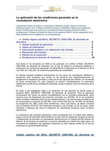 La aplicación de las condiciones generales en la ... - Uaipit.com
