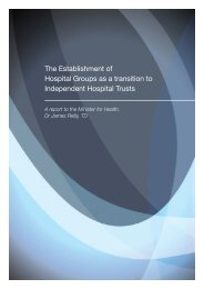 The Establishement of Hospital Groups as a transition to ...