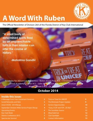 Division 26A October 2014 Newsletter