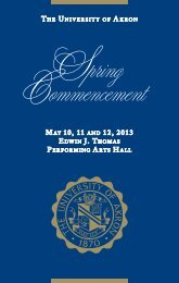 Spring 2013 Commencement Program - The University of Akron