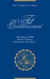Commencement Program - The University of Akron
