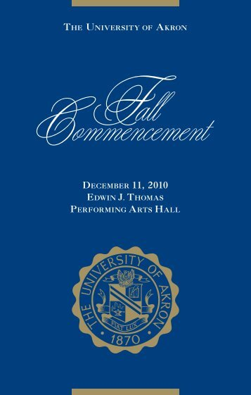 Commencement Program - The University of Akron