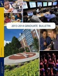 2013-2014 GRADUATE BULLETIN - The University of Akron