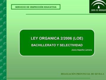 LEY ORGANICA 2/2006 (LOE)
