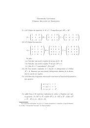 1 Dadas las matrices A, B y C. Comprobar que AB = AC. A