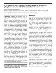 A comparison of gastrointestinal permeability induced by diclofenac ...