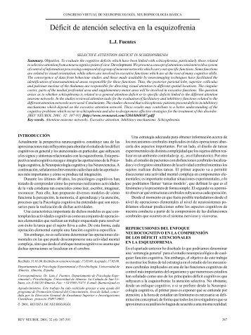 Déficit de atención selectiva en la esquizofrenia - Universidad de ...