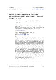 Spectral ratio method to estimate broadband ultrasound attenuation ...