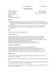 Curriculum Vitae February 2013 Corinne Langinier - University of ...