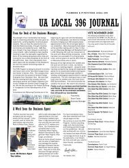 UA LOCAL 396 JOURNAL