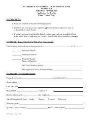 Surety - Benefits Application - UA Local 9
