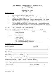 Pension Fund: Benefits Application - UA Local 9
