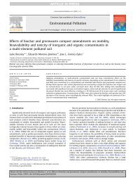 Effects of biochar and greenwaste compost amendments on mobility ...