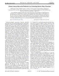 Adatom-Adatom Interaction Mediated by an Underlying Surface ...