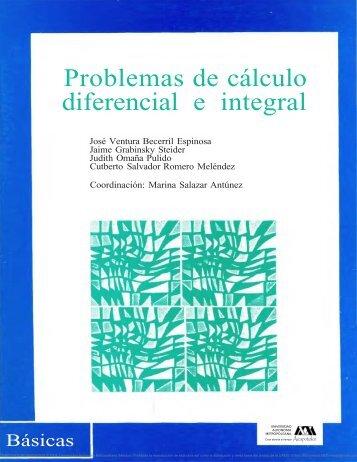 PROBLEMAS DE CALCULO DIFERENCIAL E INTEGRAL