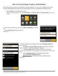 How to Set Up Exchange E-mail on Android Phone