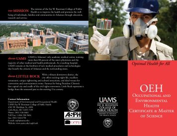 Occupational and Environmental Health Certificate & Master of ...