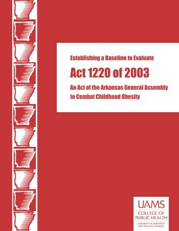 Act 1220 of 2003 - Child Nutrition Unit