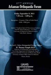 Friday, September 9, 2011 7:30 A.m. - University of Arkansas for ...