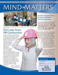 First Lady Tours PRI Construction - University of Arkansas for ...
