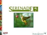 Serenade induces resistance to disease - UAP