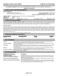 MATERIAL SAFETY DATA SHEET PYRIFOS 15G PCP# 24648 - UAP