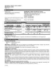 MATERIAL SAFETY DATA SHEET - UAP