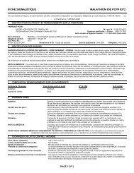 FICHE SIGNALÉTIQUE MALATHION 85E PCP# 8372 - UAP