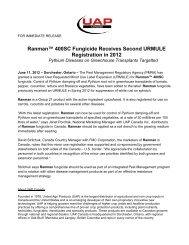 PRESS RELEASE - UAP