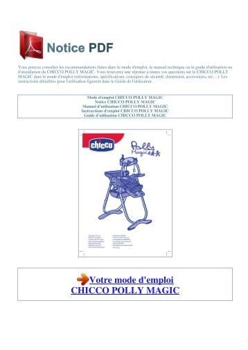 chicco polly highchair instructions