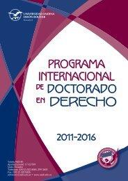 programa doctorado derechoCS4.indd - Universidad Andina Simón ...