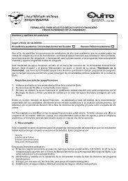 FORMULARIO PARA SOLICITUD BECAS Y APOYO FINANCIERO ...