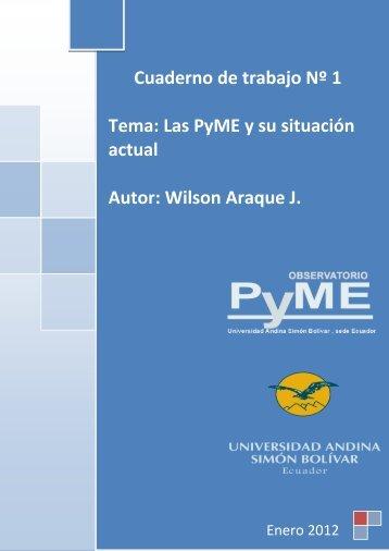 Las PyME y su situación actual - Universidad Andina Simón Bolívar