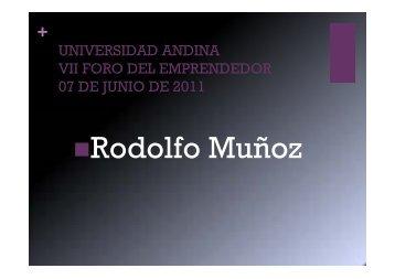 R d lf M ñ Rodolfo Muñoz