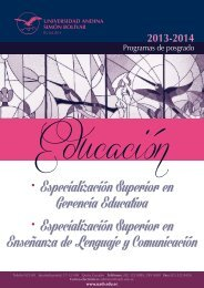 • Especialización Superior en Gerencia Educativa • Especialización ...