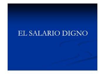 EL SALARIO DIGNO