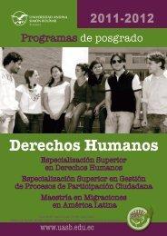Derechos Humanos - Universidad Andina Simón Bolívar