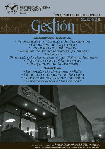 Gestión - Universidad Andina Simón Bolívar