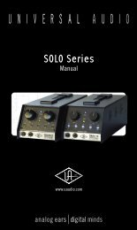 SOLO-manual online - Universal Audio
