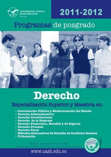 Derecho - Universidad Andina Simón Bolívar